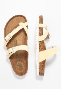 Birkenstock - MAYARI  - T-bar sandals - brushed vanilla - 3