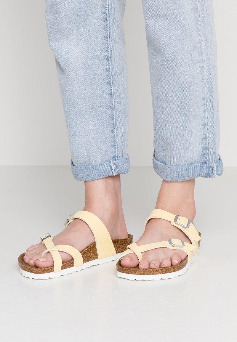 Birkenstock - MAYARI  - T-bar sandals - brushed vanilla