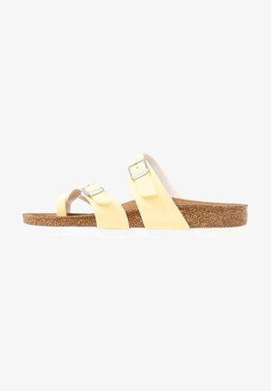 MAYARI  - T-bar sandals - brushed vanilla