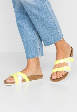YAO - Mules - neon yellow/white