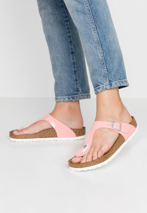 GIZEH - T-bar sandals - strawberry ice