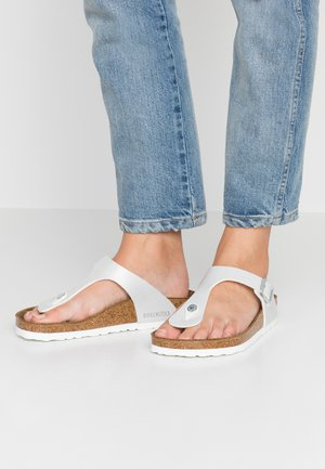 GIZEH - T-bar sandals - pearly white