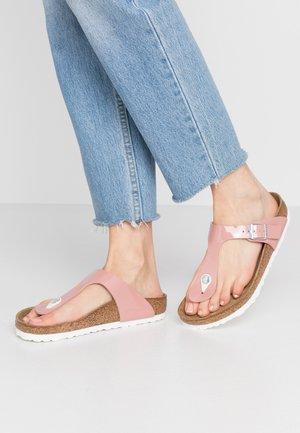 GIZEH - T-bar sandals - old rose