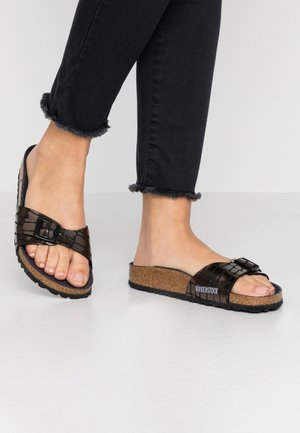 MADRID - Slippers - gleam black