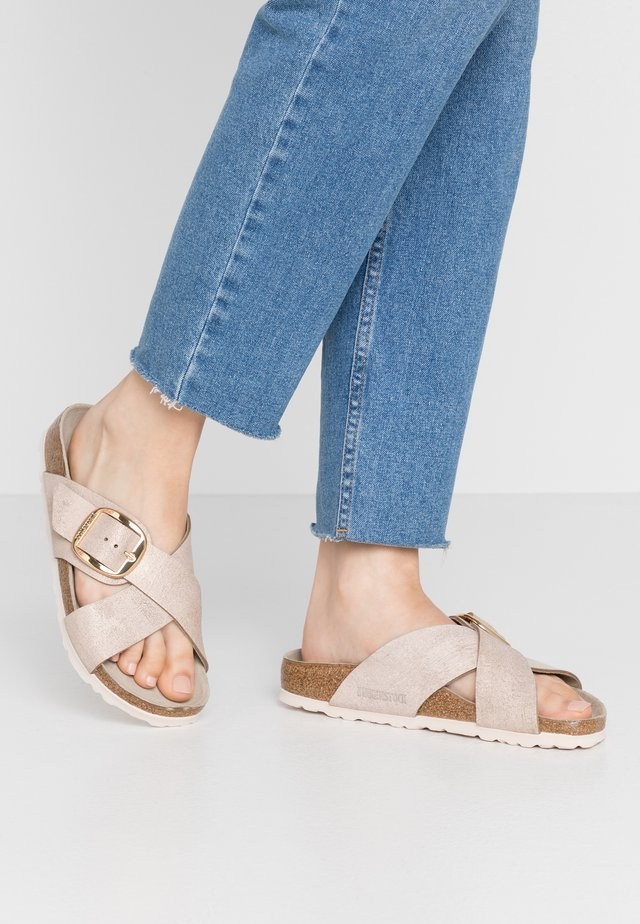 SIENA - Slippers - washed metallic rose gold