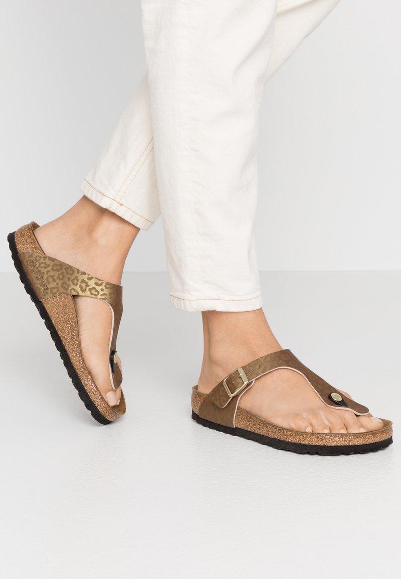 Birkenstock - GIZEH - Slippers - gold