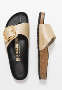 Birkenstock - MADRID BIG BUCKLE - Chaussons - glitter gold/black - 1