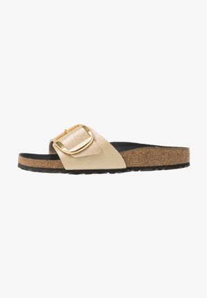 MADRID BIG BUCKLE - Pantuflas - glitter gold/black