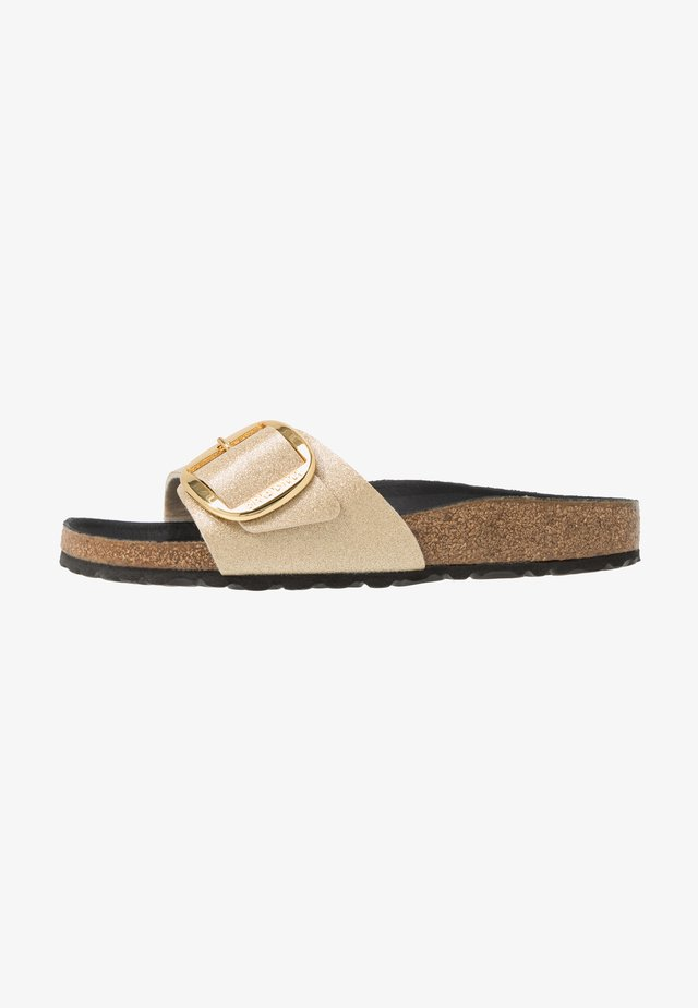 MADRID BIG BUCKLE - Slippers - glitter gold/black