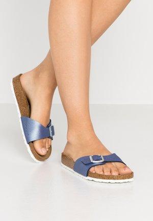MADRID - Slippers - icy metallic azure blue