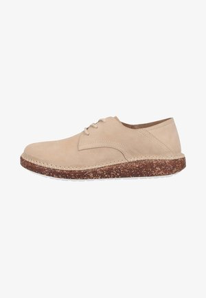 Casual lace-ups - sand