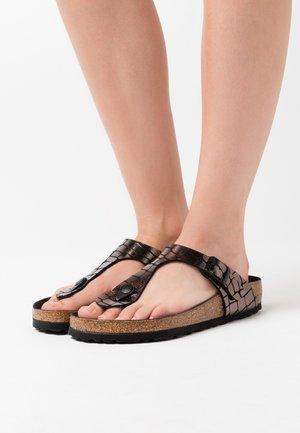 GIZEH - Sandalias de dedo - black