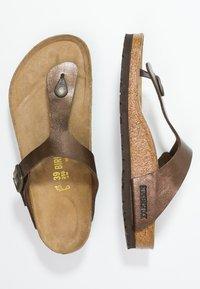 Birkenstock - GIZEH - T-bar sandals - graceful toffee - 3