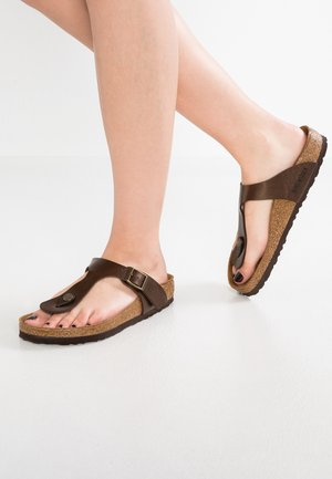GIZEH - T-bar sandals - graceful toffee