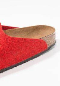 Birkenstock - AMSTERDAM - Slippers - red - 2