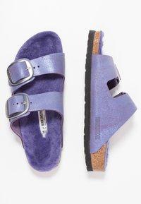 Birkenstock - ARIZONA - Domácí obuv - washed metallic violet - 3