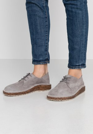 GARY - Casual snøresko - light grey