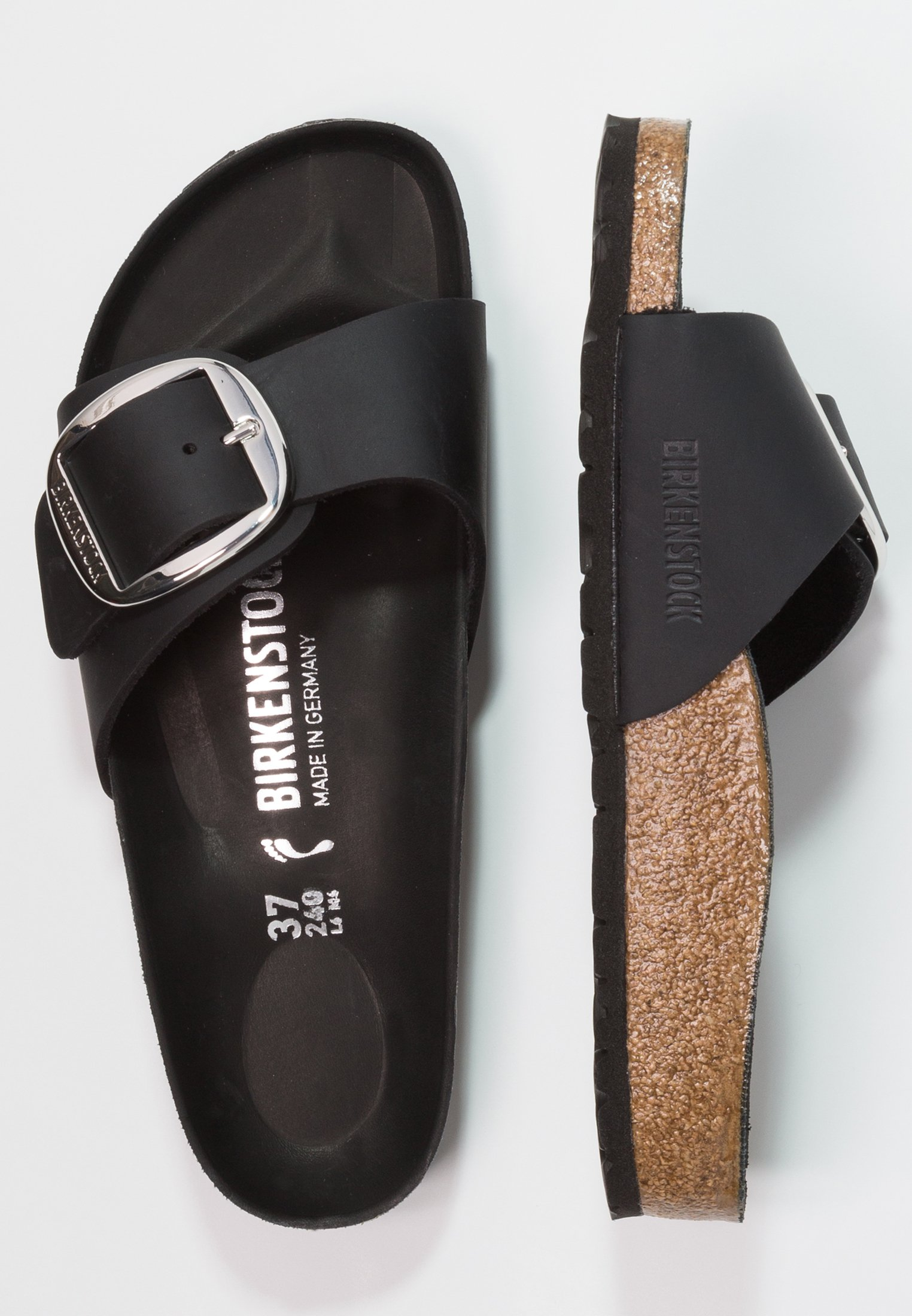 Birkenstock MADRID BIG BUCKLE - Pantofole - black xIhTrw98