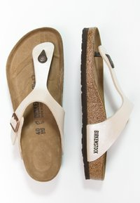 Birkenstock - GIZEH  - T-bar sandals - pearl white - 3