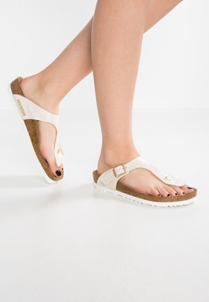 GIZEH - T-bar sandals - cream