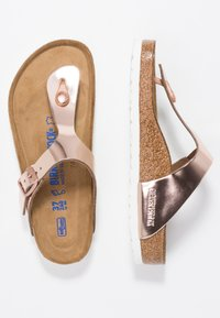 Birkenstock - GIZEH - T-bar sandals - metallic copper - 3