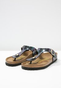 Birkenstock - GIZEH - T-bar sandals - black/multicolor - 3