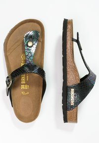 Birkenstock - GIZEH - T-bar sandals - black/multicolor - 2