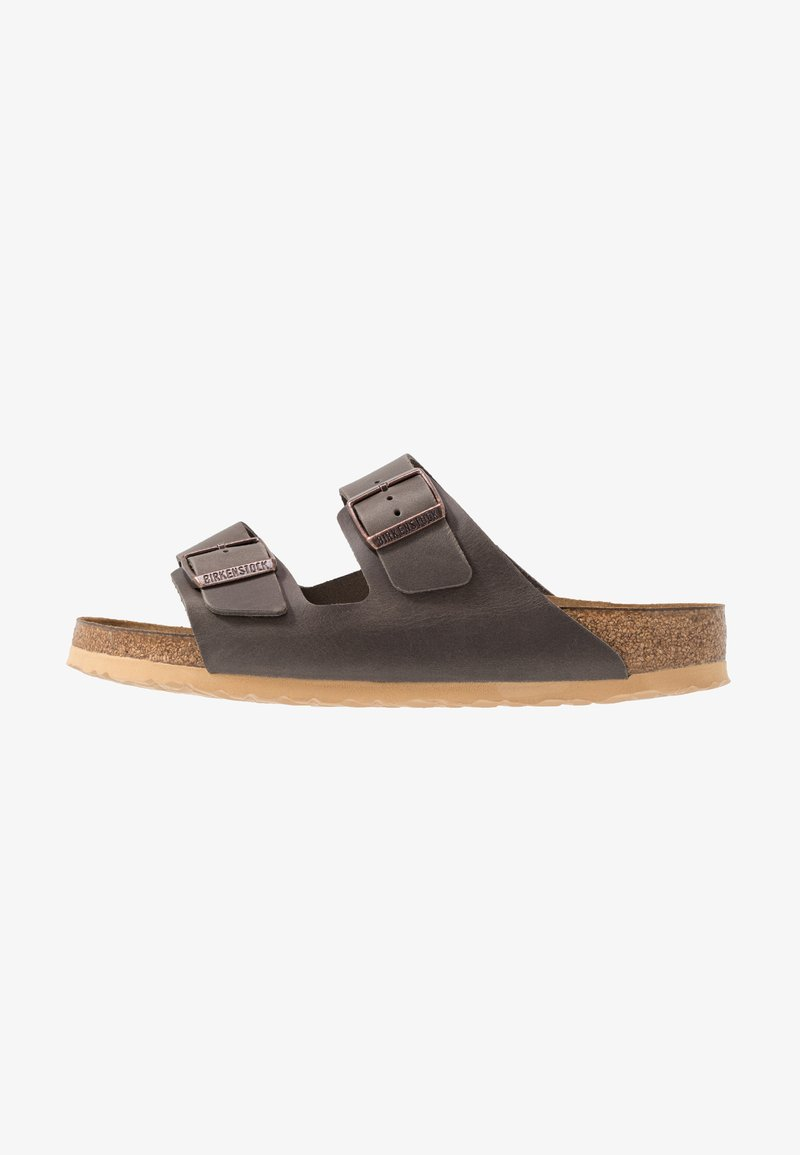 Birkenstock - ARIZONA SOFT FOOT BED - Mules - antique pull anthracite