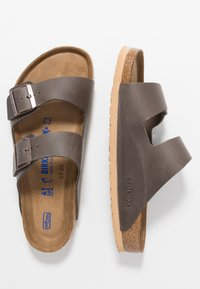 Birkenstock - ARIZONA SOFT FOOT BED - Sandalias planas - antique pull anthracite - 1