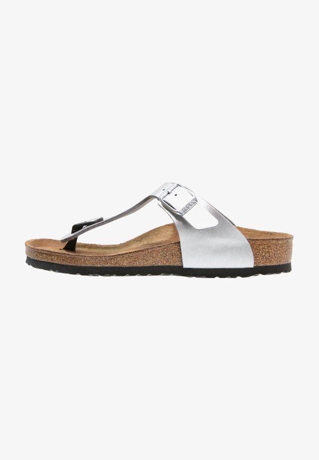 GIZEH - Sandaler m/ tåsplit - silber