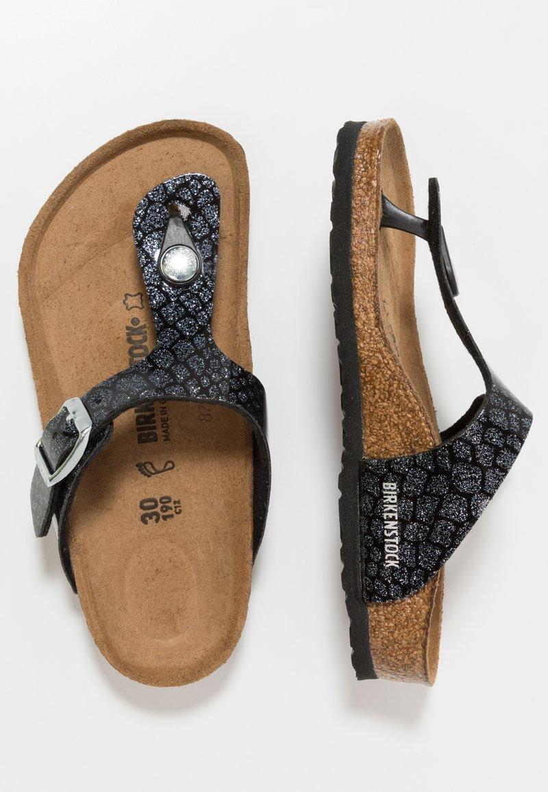 Birkenstock - GIZEH - T-bar sandals - magic black/silver