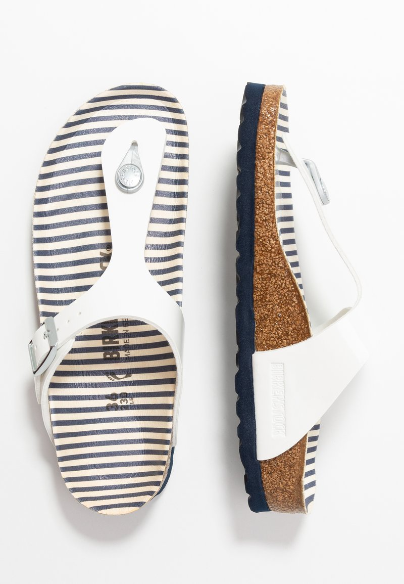 Birkenstock - GIZEH - Chaussons - white