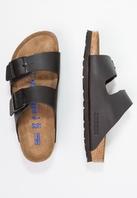 Birkenstock - ARIZONA SOFT FOOTBED NARROW FIT - Mules - black - 1