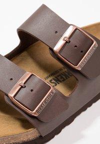 Birkenstock - ARIZONA - Slippers - dark brown - 5