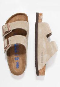 Birkenstock - ARIZONA SOFT FOOTBED - Slippers - taupe - 1