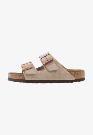 ARIZONA SOFT FOOTBED - Slippers - taupe