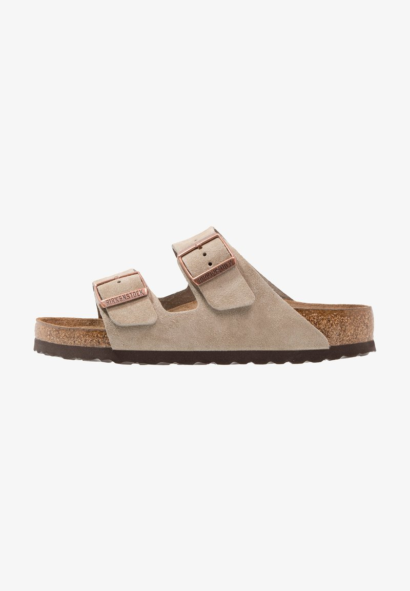 Birkenstock - ARIZONA SOFT FOOTBED - Slippers - taupe