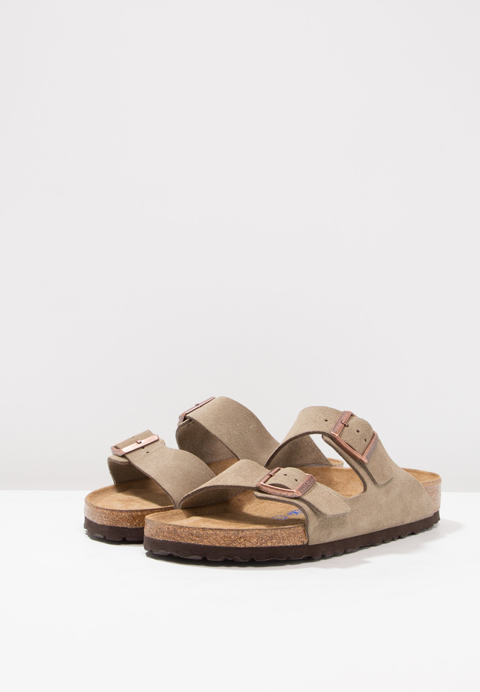 ARIZONA FOOTBED Birkenstock NARROW SOFT taupe FITMulestaupe rQCtshd
