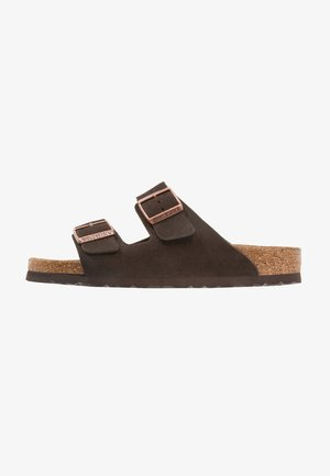 ARIZONA SOFT FOOTBED NARROW FIT - Slippers - mocca