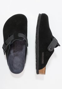 Birkenstock - BOSTON - Tøfler - asphalt black - 1