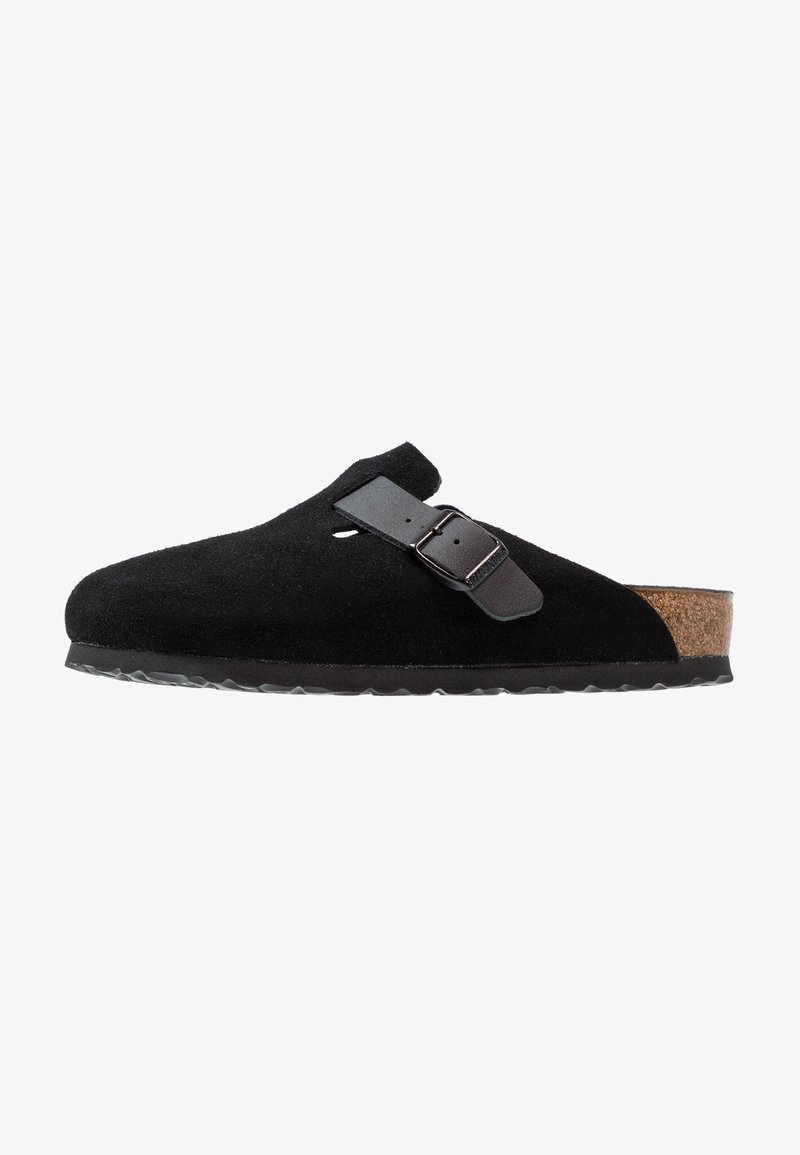 Birkenstock - BOSTON - Slippers - asphalt black