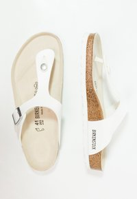 Birkenstock - GIZEH - Sandalias de dedo - white - 1