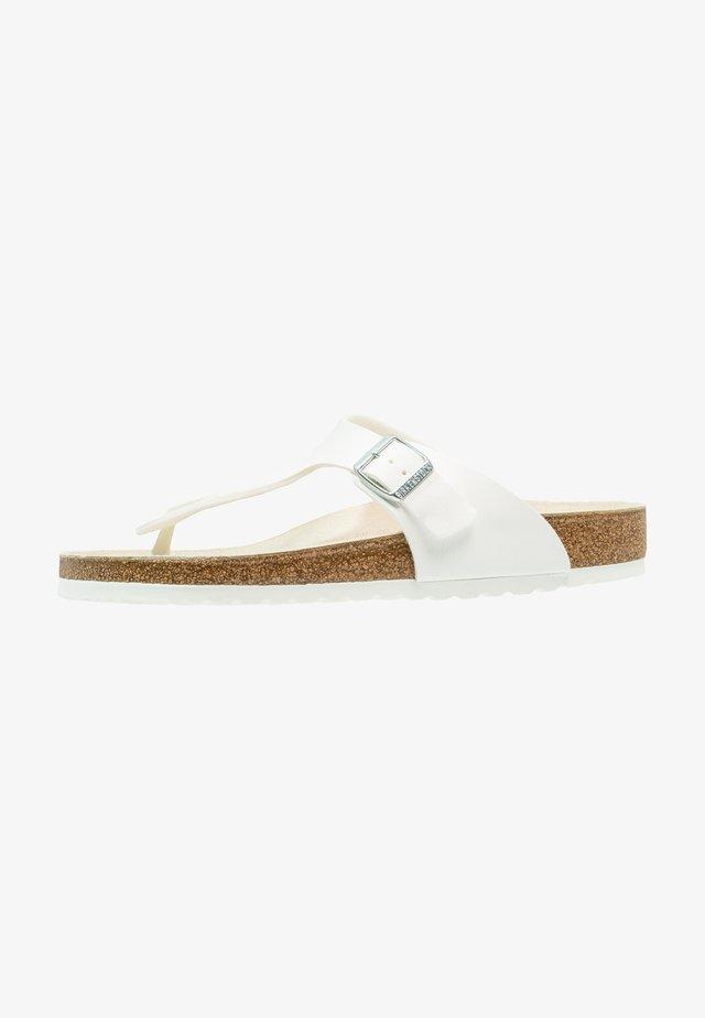 GIZEH - Sandaler m/ tåsplit - white