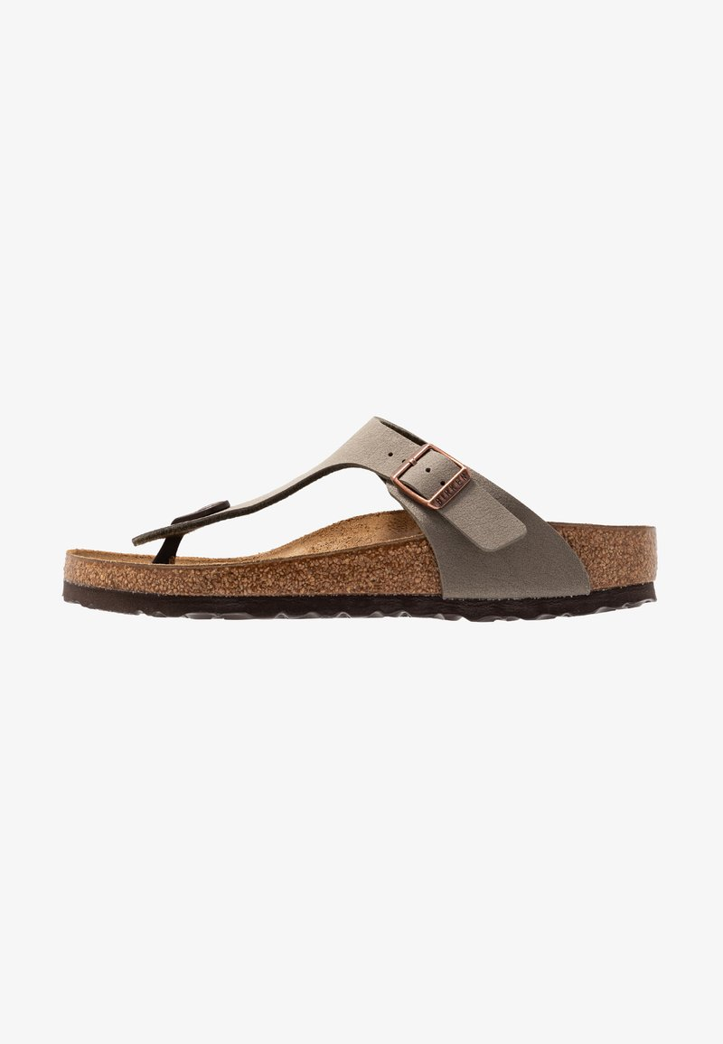 Birkenstock - GIZEH NARROW FIT - Slippers - stone