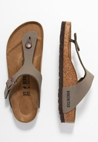 Birkenstock - GIZEH NARROW FIT - Slippers - stone - 1