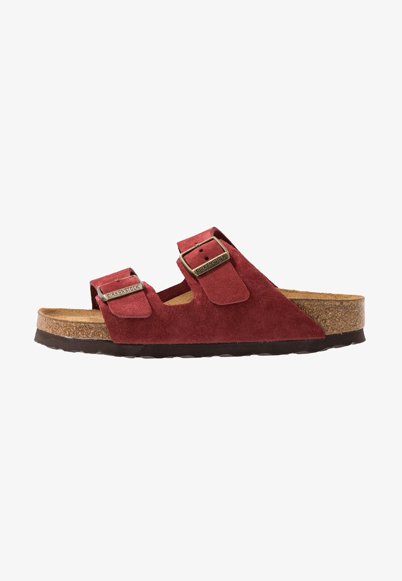 Birkenstock - ARIZONA SOFT FOOTBED NARROW FIT - Domácí obuv - antique port