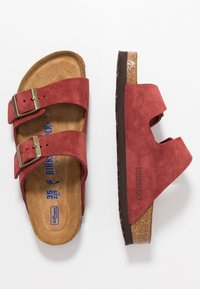 Birkenstock - ARIZONA SOFT FOOTBED NARROW FIT - Domácí obuv - antique port - 1
