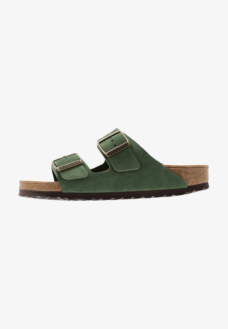 Birkenstock - ARIZONA SOFT FOOTBED NARROW FIT - Chaussons - green