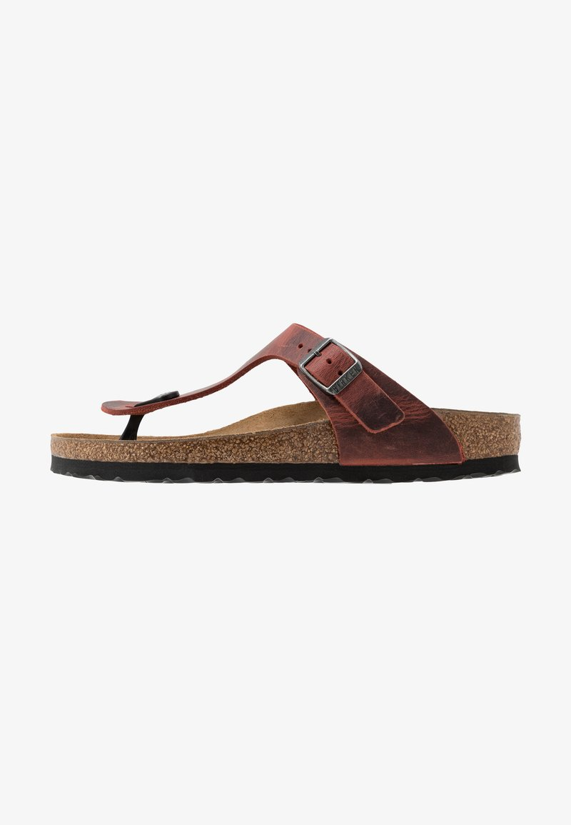 Birkenstock - GIZEH NARROW FIT - T-bar sandals - earth red