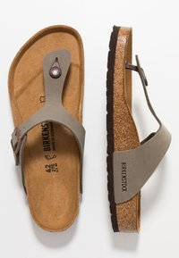 Birkenstock - GIZEH - Sandaler m/ tåsplit - stone - 1